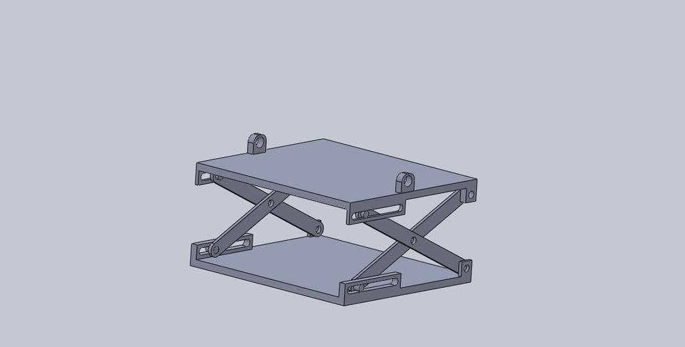 Scissor Lift Mechanism Design : Scissor mechanism d cad model library grabcad