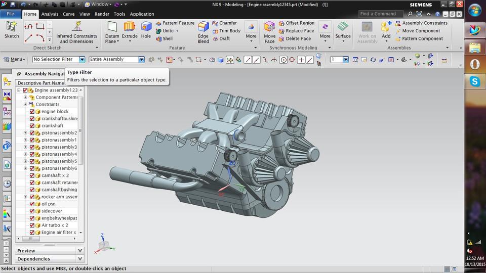 V6 Engine | 3D CAD Model Library | GrabCAD