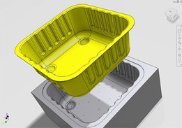 Plastic Container complete with Suction Mold
