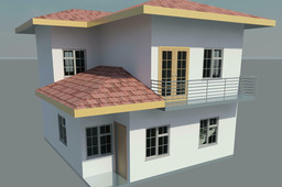 Small two storied home