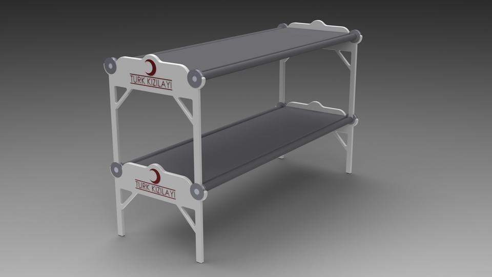 Folding Bunk Bed 3d Cad Model Library Grabcad