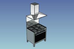 Oven with hood