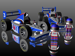 F1 Cartoon For Table MiniGame