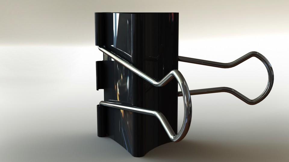 Binder Clip | 3D CAD Model Library | GrabCAD