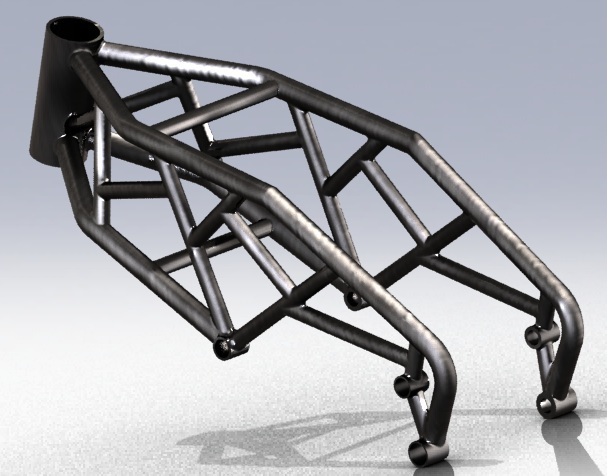 prototype motorcycle frame step iges 3d cad model grabcad - Motorcycle Picture Frame