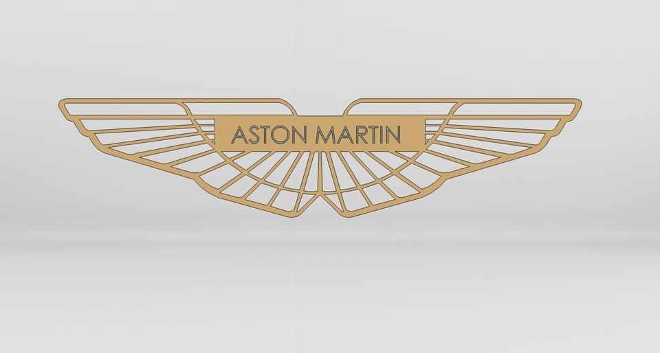 Aston Martin Logo D CAD Model Library GrabCAD - Aston martin logo