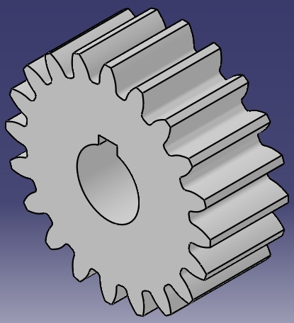 Parametric spur gear