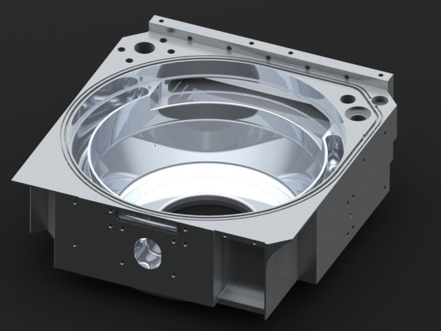 Semiconductor Wafer Cad : Low pressure chemical vapor deposition chamber stl step