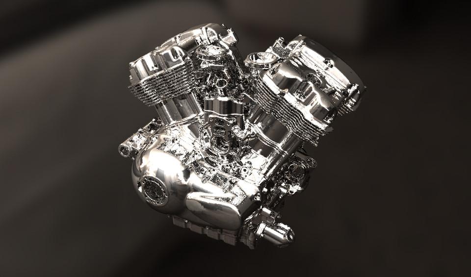 Harley-Davidson V-Rod VRSC Engine (scan to solidworks) | 3D