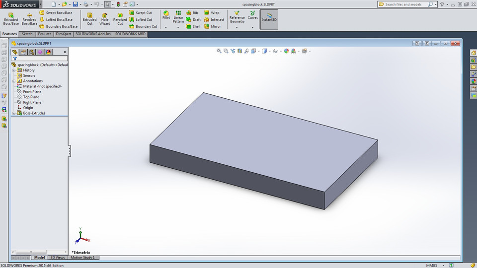 Laminate Flooring 1 4 Spacing Block Solidworks Stl 3d Cad Model Grabcad