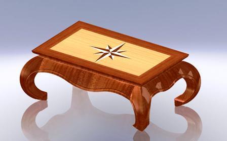 Model Grabcad Basse Cad Library Table Orientale3d JK1Tcl3F