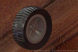 rendering of tyre rim using creo