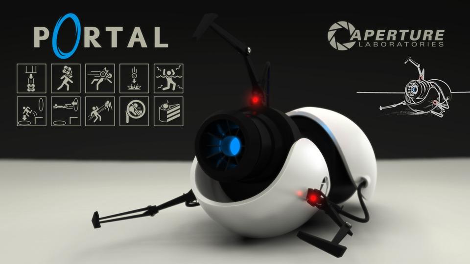Half life portal gun (handheld portal device) free paper model.
