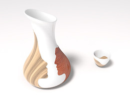 Vase Design -  Two İntegral Parts of Humanity