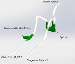 Custom Bleed Valve and Flow Splitter