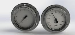 Pressure Gauge, Panel Mount, 2.5 in [63mm]