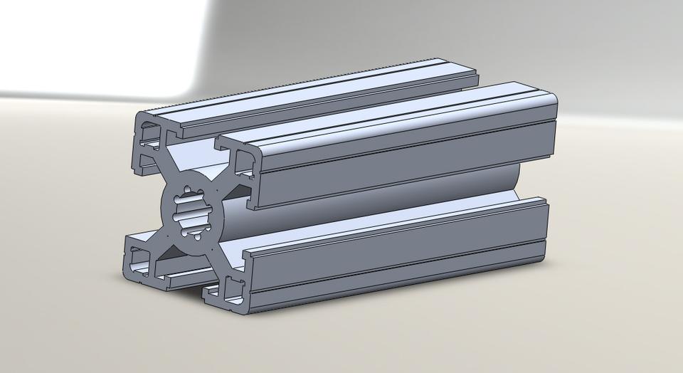 aluminium profile 3d cad model library grabcad. Black Bedroom Furniture Sets. Home Design Ideas