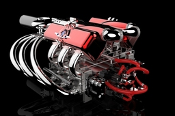 610cc Turbo Compound Engine for KeyShot Competition