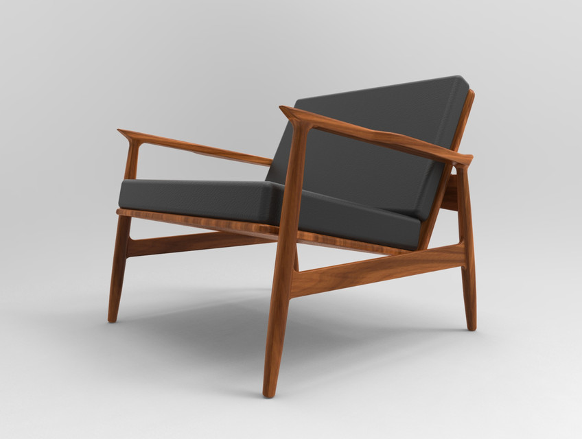 Phenomenal Mid Century Modern Chair 3D Cad Model Library Grabcad Pdpeps Interior Chair Design Pdpepsorg