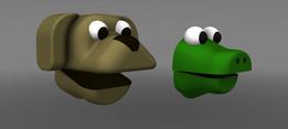 Croc & Dog Puppet
