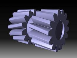 herringbone gear A.K.A. double helical gear