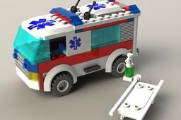 Lego Ambulance - Model No. 7890