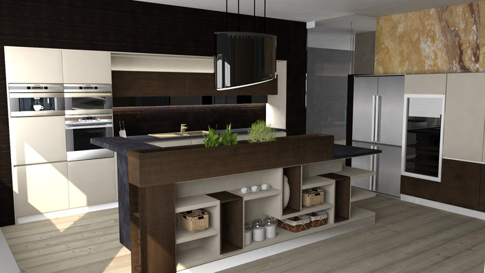 design kitchen with yacube components