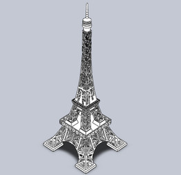 Eiffel Tower scaled gift model