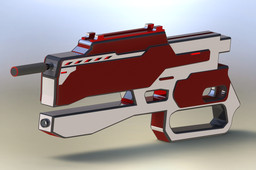 Red & White Battle Rifle