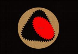 Internal ellipse gear