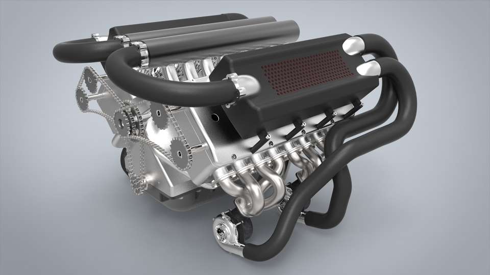 w16 engine 3d cad model library grabcad