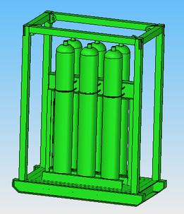 Cascade Oxygen Unit- 6 Cylinder
