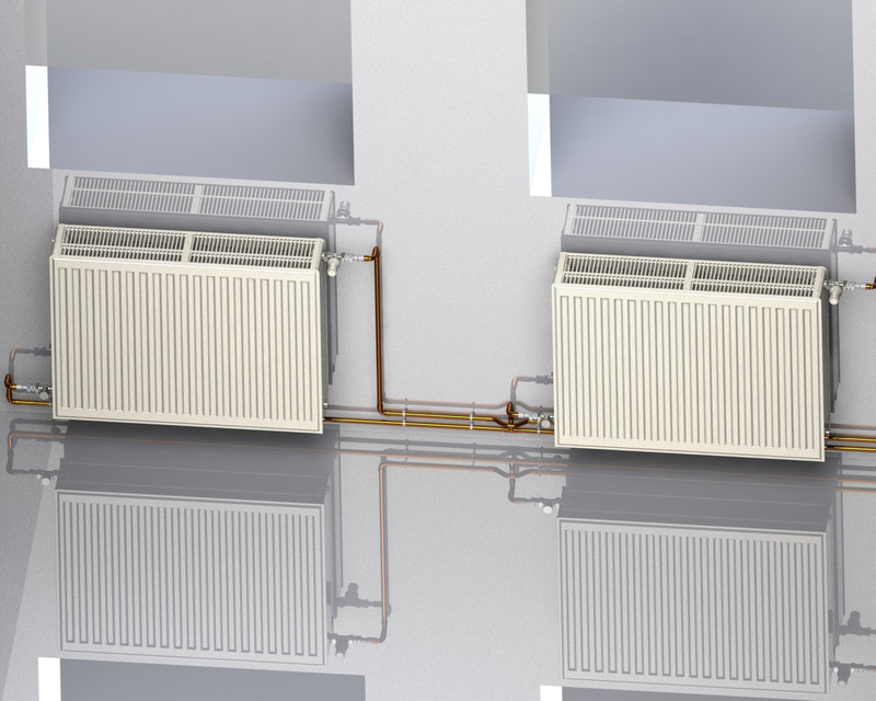 Panel radiator for central heating system. (type: 33k 600x800) | 3D ...