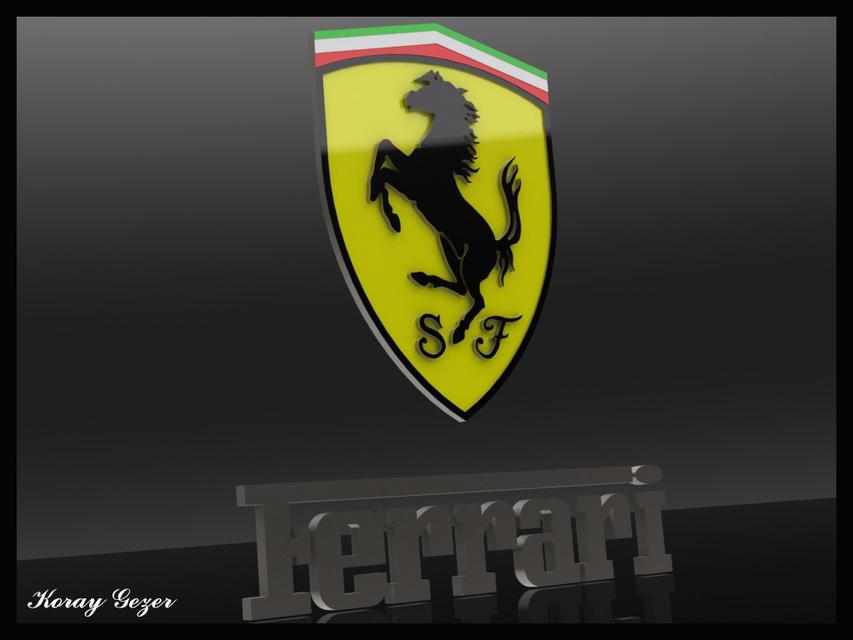 Ferrari Logo 3d Cad Model Library Grabcad