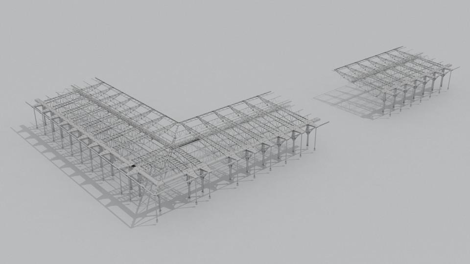 Steel Construction Details Sport Building - Çelik Strüktür