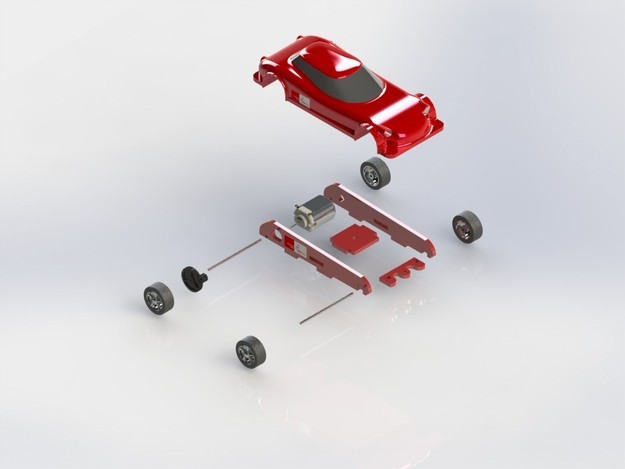 Slot car design