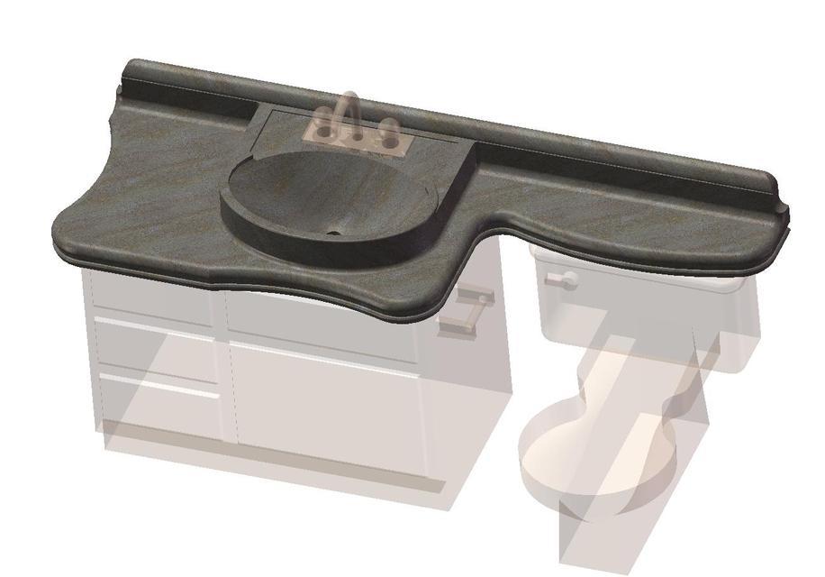 Bathroom Sink Toilet Cabinet Combo (concept)   SOLIDWORKS   3D CAD Model    GrabCAD