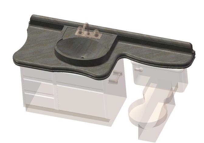 Bathroom Sink Toilet Cabinet Combo Concept Solidworks 3d Cad Model Grabcad