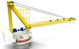Revolving crane 112mt.
