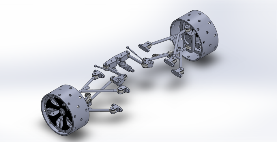 Rear Pushrod Suspension Design | 3D CAD Model Library | GrabCAD