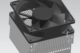 80mm Sleeve CPU Fan and Heatsink