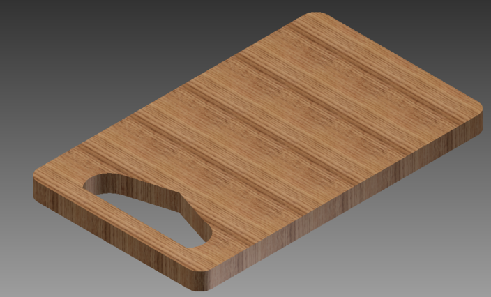 Chopping board - Autodesk Inventor, STL, Other - 3D CAD model ...