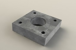 4 screw hole plate