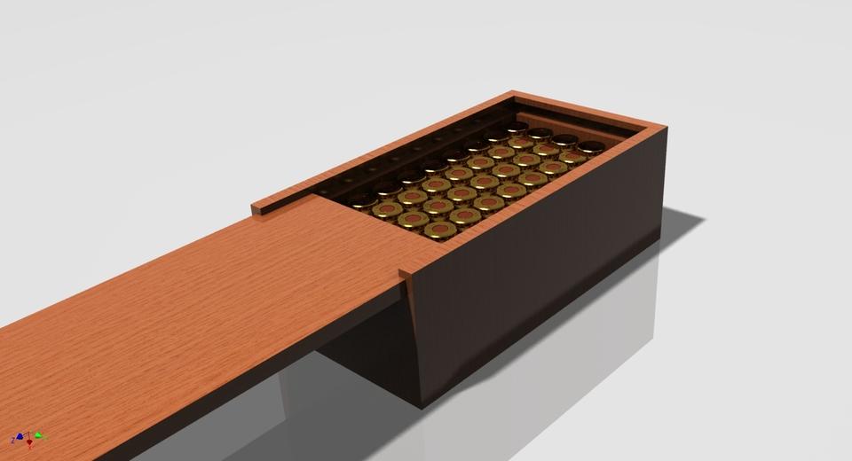 9mm Ammo box | 3D CAD Model Library | GrabCAD