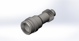 Gear shaft with inside and outside teeth