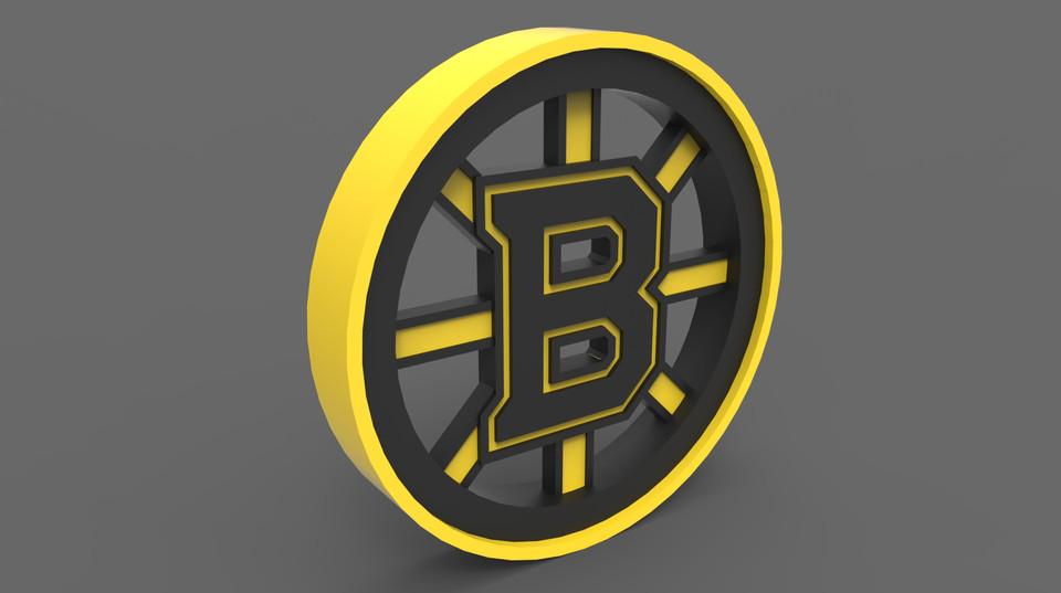 Boston bruins logo 3d 3d cad model library grabcad voltagebd Image collections