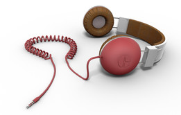 Headphones Red/White/Brown
