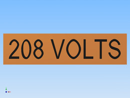 208 VOLTS LABEL
