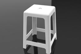 Banquinho de plastico/Plastic stool in SolidWorks 2010