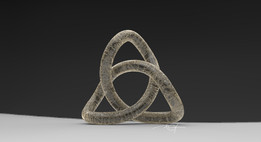 ASH CELTIC TRIANGLE TRIQUETRA THREE QUETRUS TRINITY KNOT